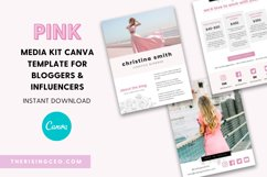 Pink Blush Floral 3-Page Blogger Media Kit Canva Template Product Image 1