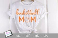 Basketball mom SVG - Sports mom SVG file, handlettered Product Image 1