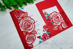 Rose wedding invitation template, Svg files for cricut Product Image 1