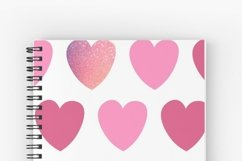 Pink hearts seamless pattern Valentine's digital paper Product Image 12