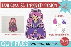 3D Layered SVG for Kids Crafts Princess Product Image 1