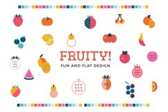 Fruity! Fun and flat fruits Product Image 1
