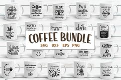 Coffee Quotes Bundle Vol 2 SVG, EPS, DXF, PNG Product Image 1