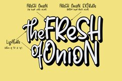 Fresh Onion // Layered Funny Display Font Product Image 2