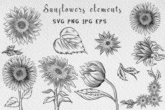 Sunflower clipart collection Product Image 6