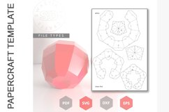 PDF Template of Apple fruit papercraft template / 3D craft Product Image 2