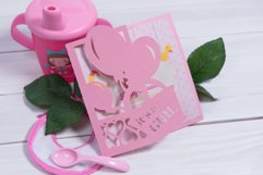 Baby Shower Invitation, Its a Girl cutting file Product Image 2
