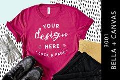T-Shirt Mockup Bella Canvas 3001 Fashion Blog Style Bundle Product Image 2