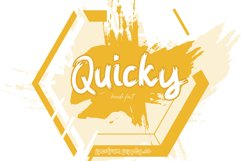 Quicky Brush Font Product Image 2