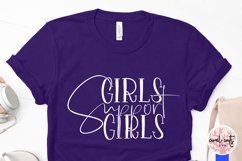 Girls Support Girls - Women Empowerment EPS SVG DXF PNG Product Image 3