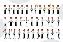 African men Character people Cartoon vector collection flat Product Image 2