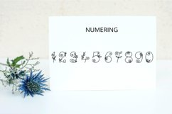 Flores mono - beautiful monogram floral font Product Image 3