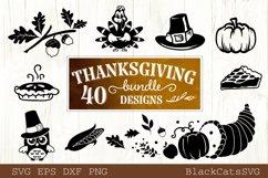 Thanksgiving SVG bundle 40 designs Fall and pumpkins SVG bun Product Image 6
