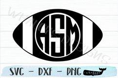 Football Monogram, Fall Sports Team SVG Product Image 2