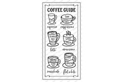 Coffee Bar - Guide Cheat Sheet - Farmhouse Kitchen Sign SVG Product Image 4