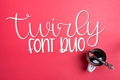Web Font Twirly Font Duo - A Fun Hand Lettered Script & Prin Product Image 1