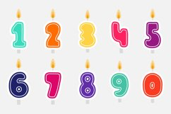 Birthday candles SVG | birthday decorations Product Image 3
