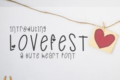 LoveFest A Cute Heart Font Product Image 6