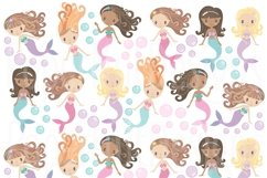 Mermaid Clipart and Digital Papers Set Product Image 4