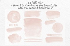 Beige watercolor stains Neutral washes clipart Product Image 3