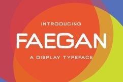 Web Font Faegan Typeface Product Image 1