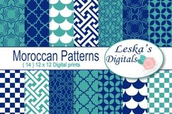 Moroccan Digital Paper Patterns Product Image 1