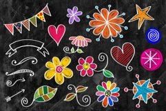 Hand Drawn Cute Chalk Board Doodles Product Image 2