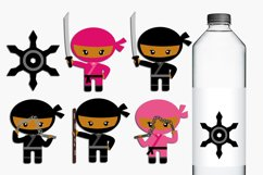 Dark Skin Ninja girls and boys illustrations Product Image 1