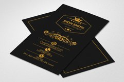 Vertical Black Business Cards Product Image 1