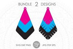 Earrings SVG, Teardrop earring, Geometrical earrings Product Image 4