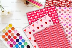 Pink Valentine Digital Paper Pack Product Image 3