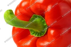 Perfect Bulgarian Red Pepper isolated on white Product Image 3