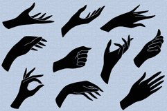 Hands clipart and procreate stamps with logo elements Product Image 2