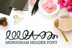Web Font Monogram Header Font - A-Z Letters Product Image 4