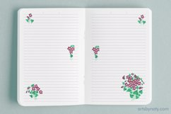 Violet flowers - printable KDP journal. Product Image 4