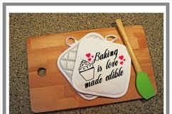 Baking Is Love Made Edible Kitchen SVG Product Image 2