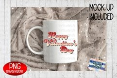 Happy Valentine's Day Glitter Ombre Sublimation PNG Product Image 3
