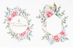 Pink Roses Watercolor Bundle Product Image 6