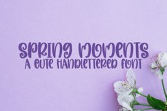 Spring Moments - A Cute Handlettered Font Product Image 1