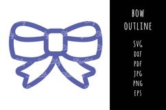Bow SVG Cutting file, Bow cut file, cut file, Bow outline Product Image 1