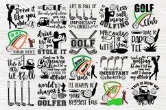 Golf SVG Bundle, Golfing Svg, Golfer Svg Quotes Cut Files Product Image 2