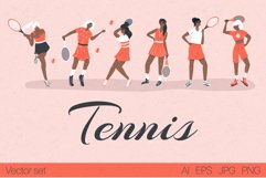 Tennis characters vector collection Product Image 1