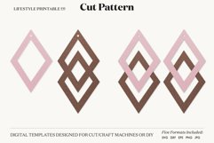 Earrings SVG Template, Silhouette Cut Files, Cricut Product Image 2