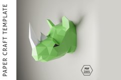Rhino Papercraft/Paper craft/3D Papercraft/3D rhinoceros/PDF Product Image 2