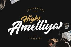 High Amelliya Typeface Product Image 1