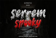 serrem - a spooky two style font Product Image 1