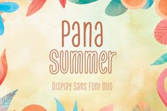 Pana Summer - Display Sans Font Duo Product Image 1
