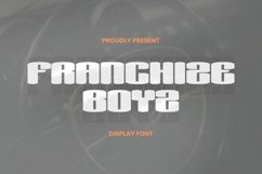 Web Font Franchize Boyz Font Product Image 1