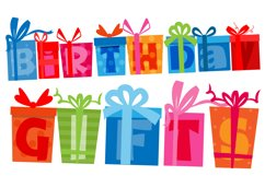 Birthday SVG Font Duo Product Image 2