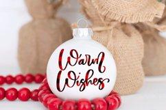 Christmas Ornament Sublimation Design Bundle Handlettered Product Image 2